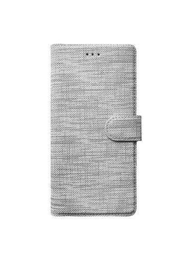 Microsonic Apple iPhone SE 2020 Kılıf Fabric Book Wallet Gri